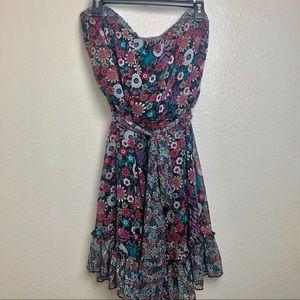 Torrid | Strapless Floral Dress